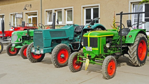 A bunch of tractors