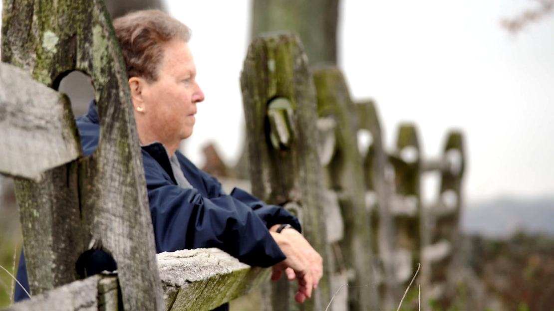 Carol Reardon, Penn State professor emerita of history, looks out over the Gettysburg battlefield