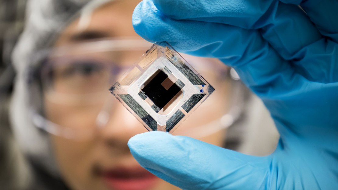 "An efficient ""organic"" photovoltaic material developed at the University of Michigan"