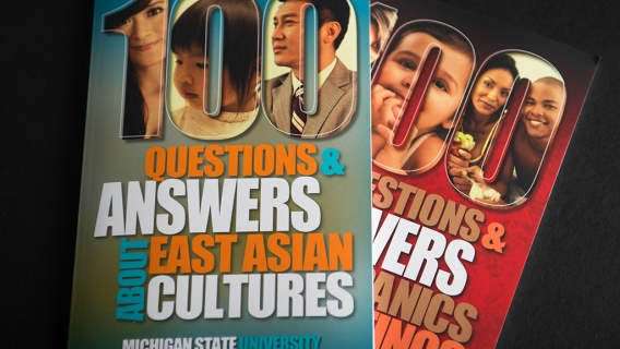 Books answering questions about different cultures were produced by the MSU school of Journalism.