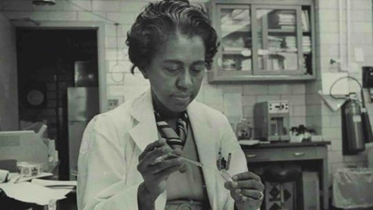 Marie Maynard Daly, the first African American woman to earn a PhD in chemistry in the US