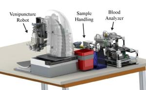 The robotic blood sampling device designed by Rutgers University researchers
