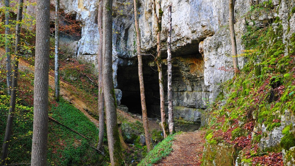 entrance to a cave