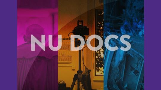 Promotional image for the Northwestern University NU Docs series.