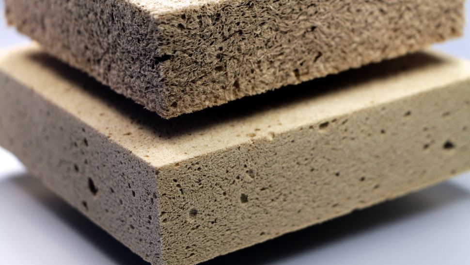 Wood foam from the Fraunhofer Institute for Wood Research, Braunschweig, Germany.