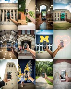 University of Michigan Social Media shots