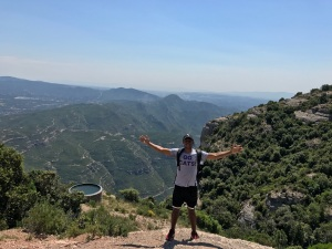 A Northwestern University student studying abroad in Spain.