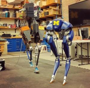 University of Michigan walking robots.