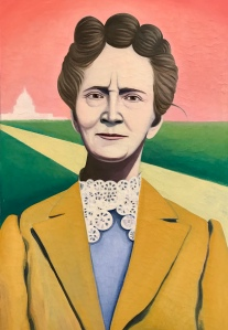 A painting of Belva Lockwood by Rutgers University student and artist Valerie Suter
