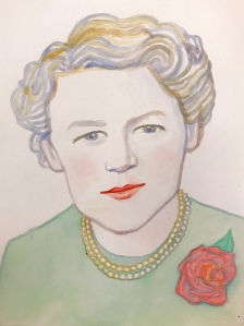A painting of Margaret Chase Smith by Rutgers University student and artist Valerie Suter