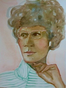 A painting of Shirley Chisholm by Rutgers University student and artist Valerie Suter