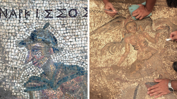 Details of the mosaics found at Antiocha ad Cragum by University of Nebraska researchers.