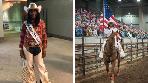 Michigan State University's first black rodeo queen Khalilah Smith