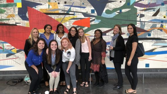 Northwestern University students and leader of the Propel program for female entrepreneurs