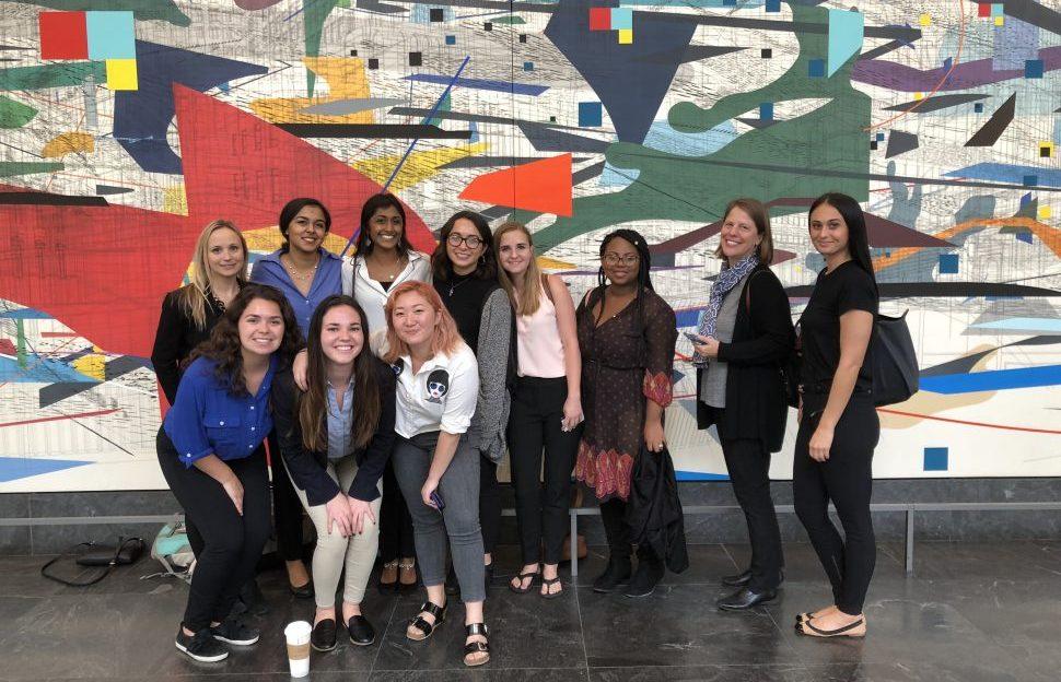 Northwestern University students and leader of the Propel program for female entrepreneurs