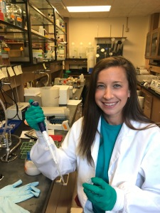 Indiana University Ph.D. student Olivia Ballew in the lab.