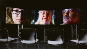 The screens used for the FaceAge project