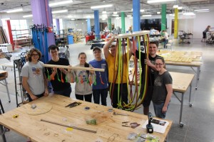 University of Nebraska Lincoln Theme Park Design Group students in their workshop at the Nebraska Innovation Studio
