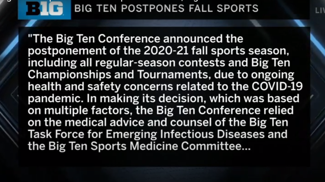 Read the Big Ten statement