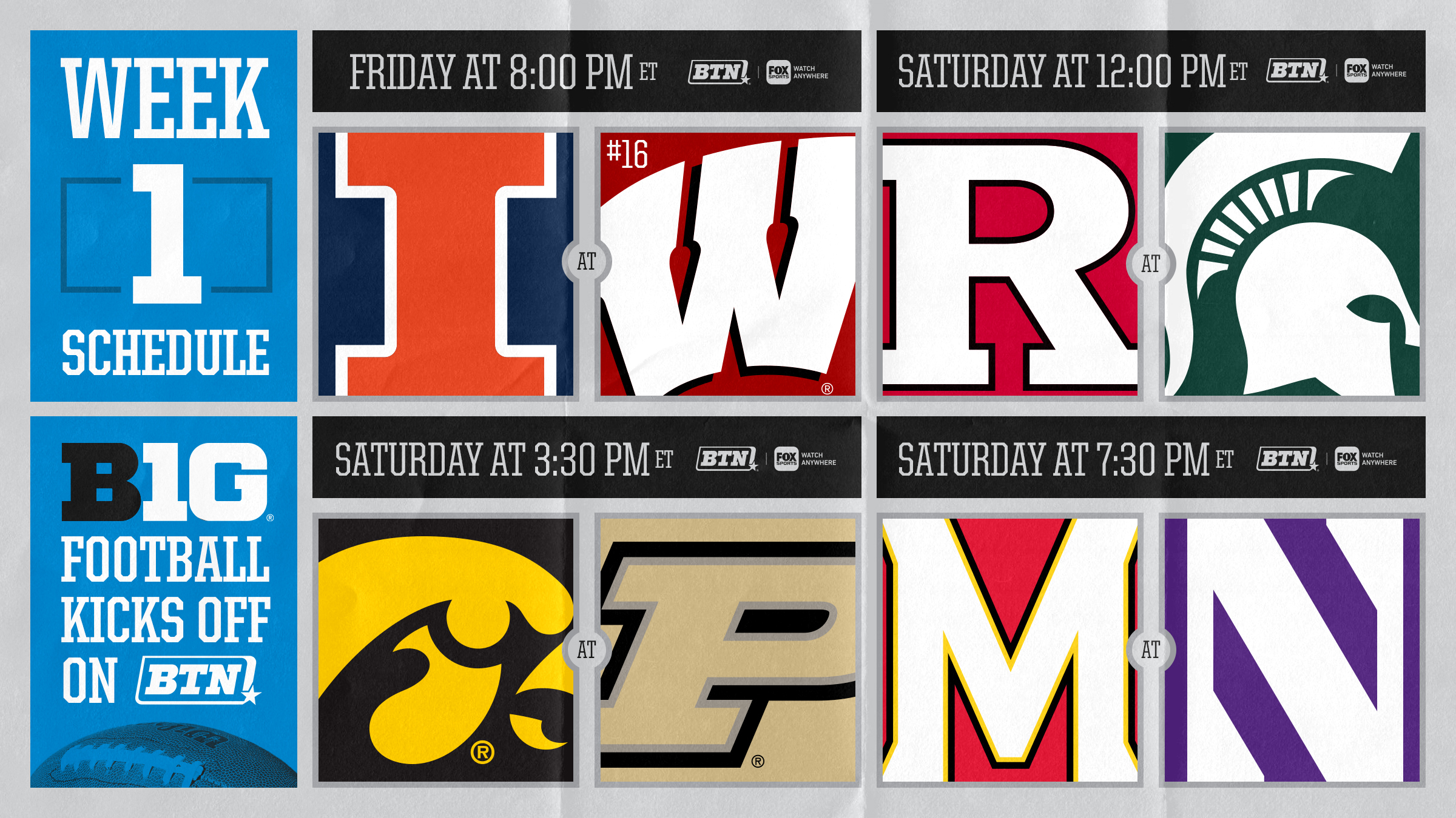 Big Ten Football Returns on BTN - Big Ten Network